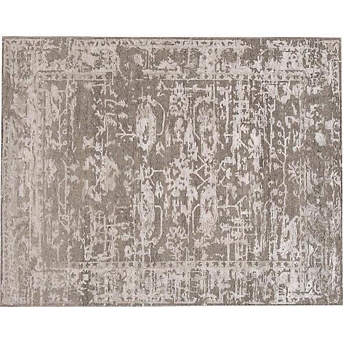 """7'8""""x9'9"""" Modern Abstract Rug, Gray"""