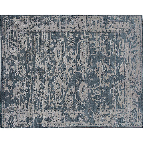 "7'8""x9'11"" Modern Abstract Rug, Blue"