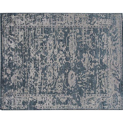 7'8"x9'11" Modern Abstract Rug, Blue
