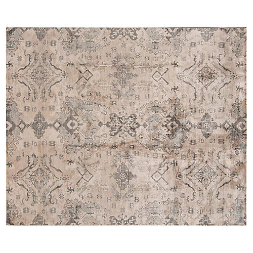 "8'1""x9'9"" Surn Hand-Knotted Rug, Beige"