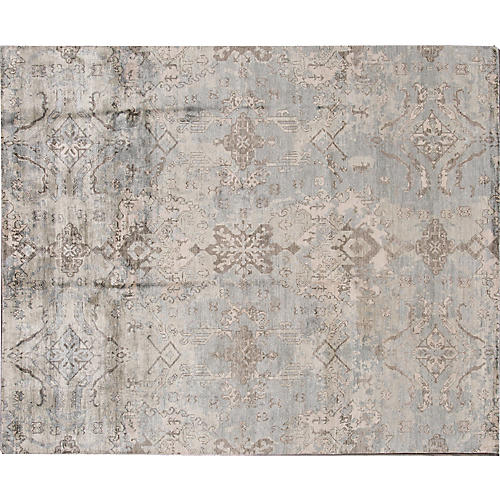 """7'11""""x9'9"""" Surn Hand-Knotted Rug, Sky"""