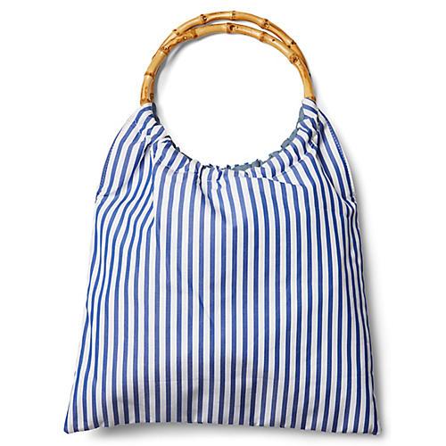 Signature Bag, Blue/White