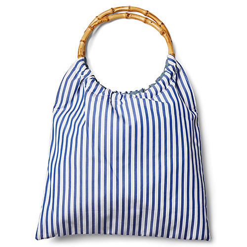Signature Bag, Blue/White