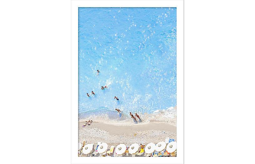 Judith Gigliotti, Vertical White Umbrellas