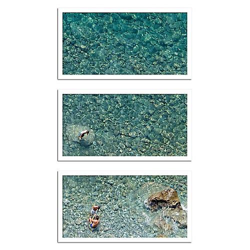 Judith Gigliotti, 3 Fellas in the Water Triptych