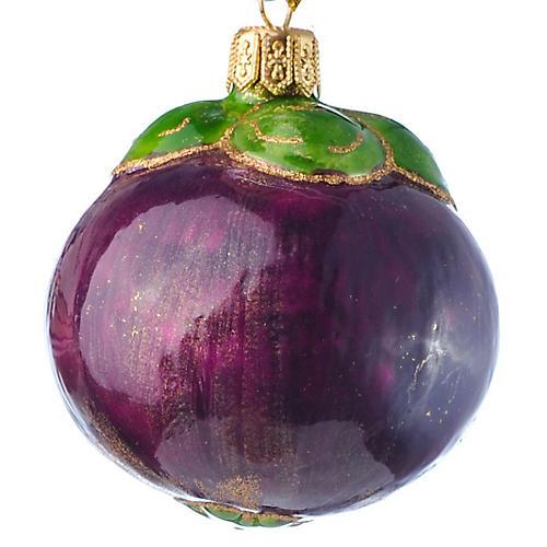 Plum Ornament, Purple/Green