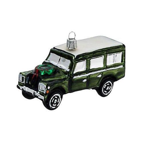 Jeep Ornament, Green/Silver
