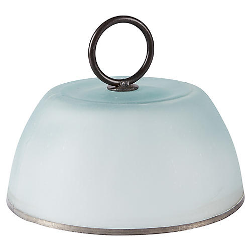 Blainey Serving Cloche, Frosted/Black