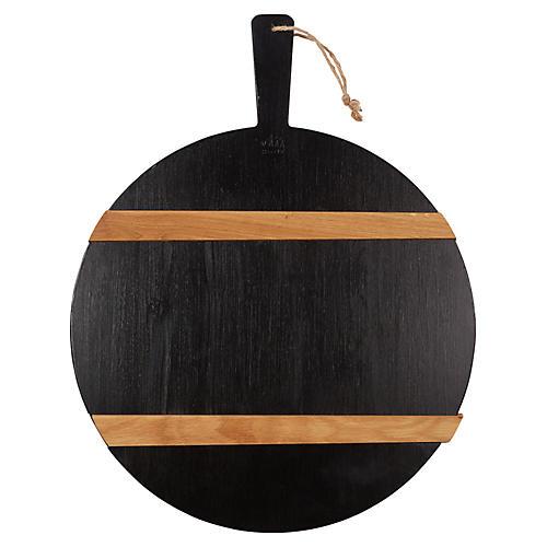 Titian Charcuterie Board, Black/Natural