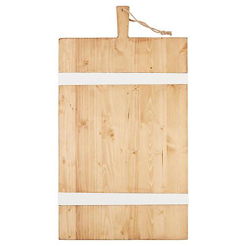 Ruben Charcuterie Board, Natural/White