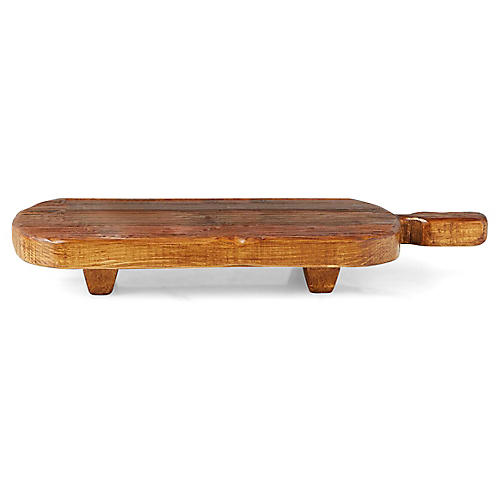 Niccolo Footed Serving Board, Natural