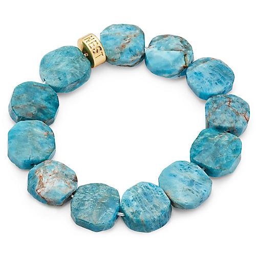 Apatite Stretch Bracelet, Blue