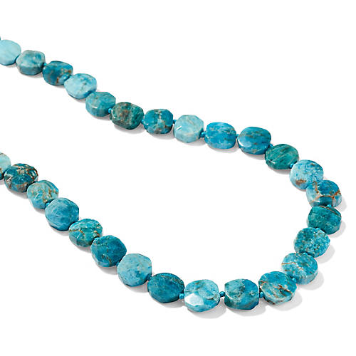Apatite Strand Necklace, Blue