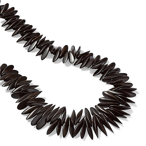 Ebony Spike Necklace, Black