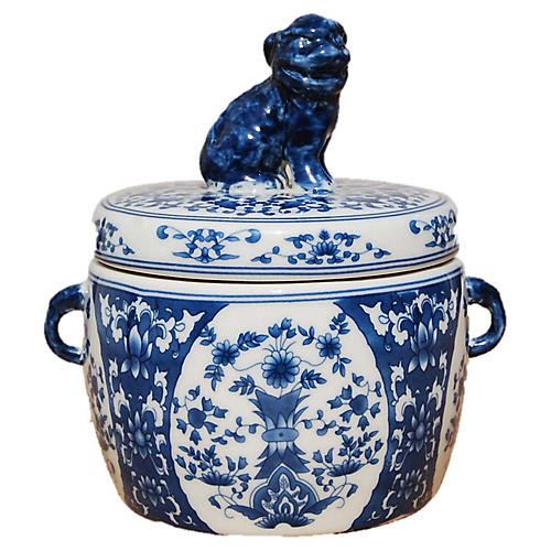 Ayana Foo Dog Candle, Vetiver