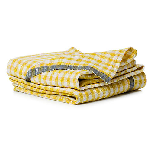 S/2 Macero Tea Towels, Dijon