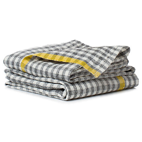 S/2 Macero Tea Towels, Gray