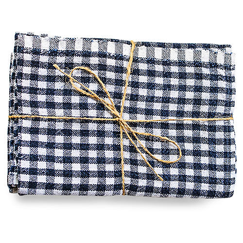 S/2 Godrich Tea Towels, Navy
