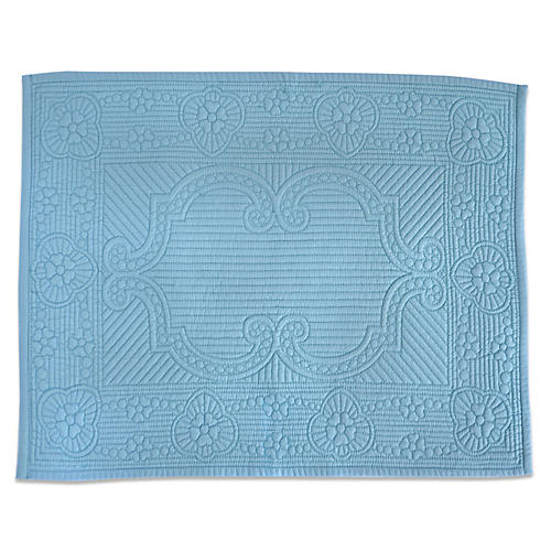 S/6 Verdi Place Mats, Light Blue