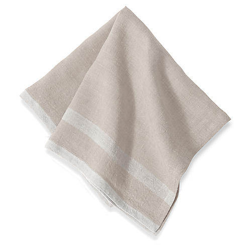 S/4 Nero Dinner Napkins, Natural