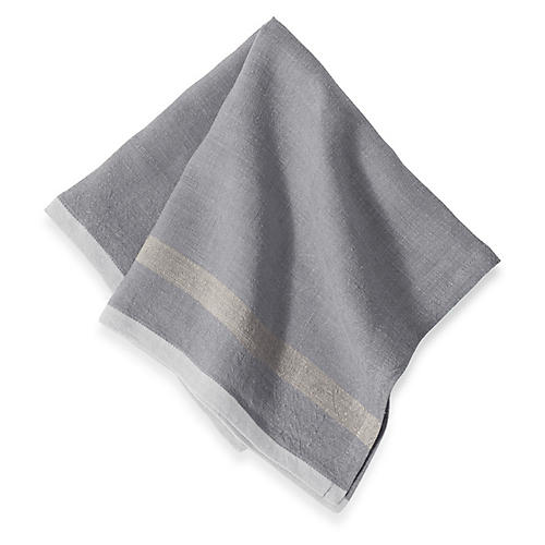 S/4 Cervetto Dinner Napkins, Gray