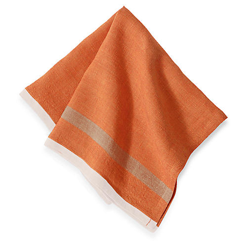 S/4 Belloc Dinner Napkins, Orange