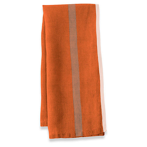 S/2 Belloc Tea Towels, Orange