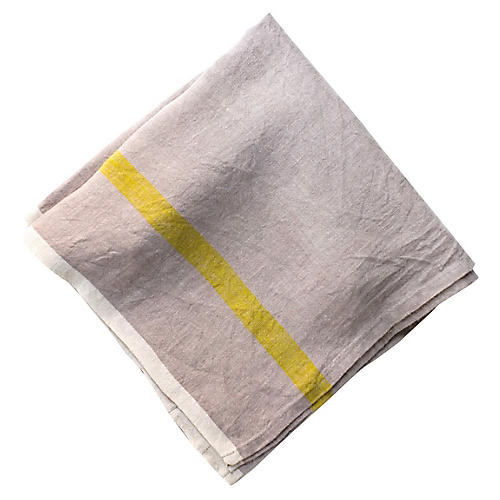 S/4 Louis Dinner Napkins, Gray