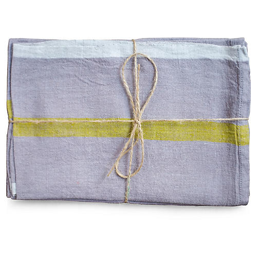 S/2 Louis Tea Towels, Gray