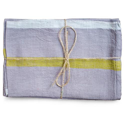 S/2 Louis Tea Towels, Gray