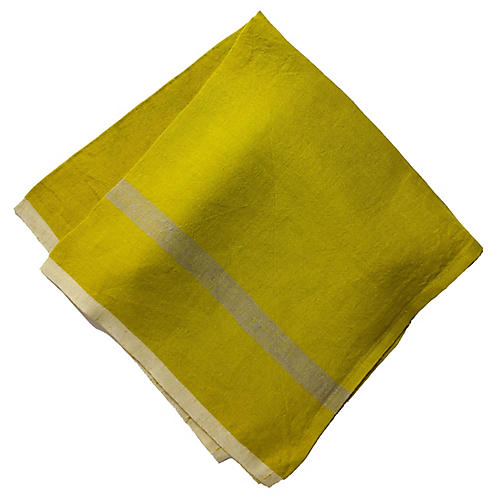 S/4 Arnim Dinner Napkins, Lime