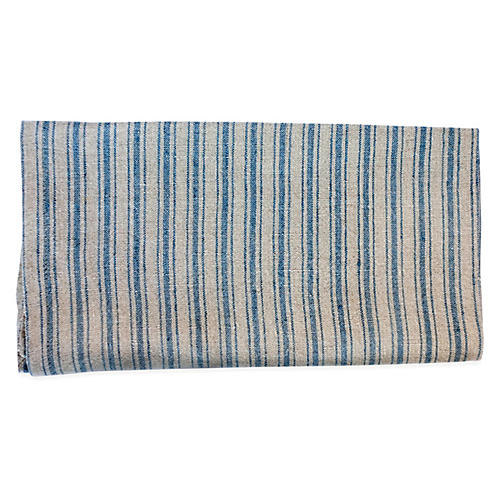 S/4 Copland Dinner Napkins, Natural/Blue