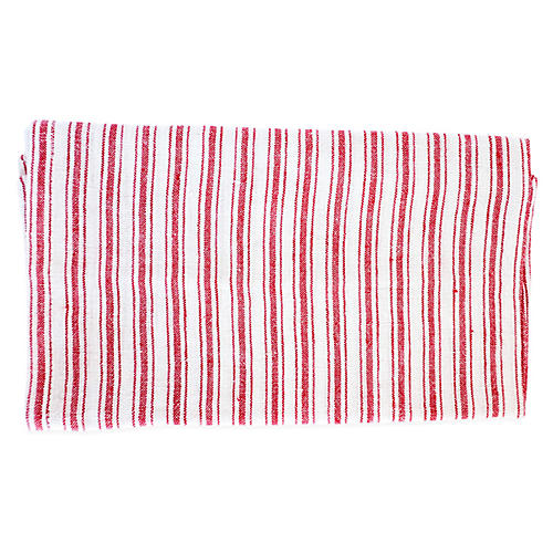 S/4 Copland Dinner Napkins, Red/White
