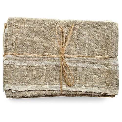 S/2 Wagner Tea Towels, Natural