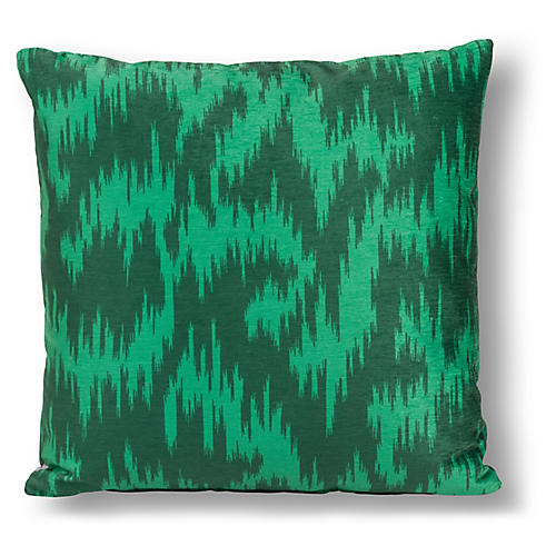 Deja 20x20 Ikat Pillow, Emerald
