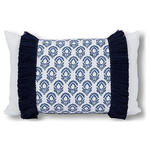 Bodhi 16x24 Lumbar Pillow, Blue Jasmine