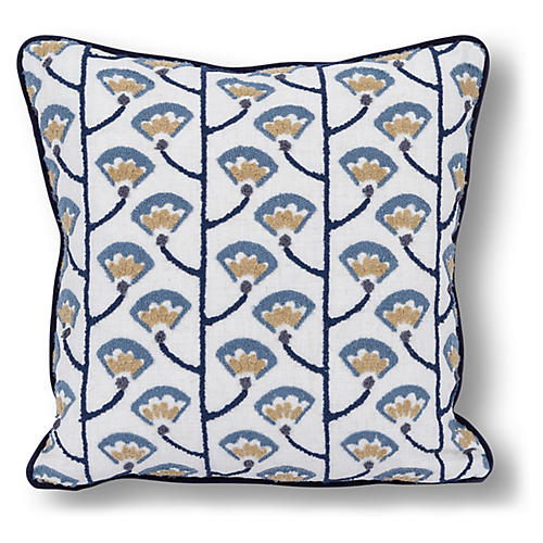 Fefang 20x20 Pillow, Indigo/Multi