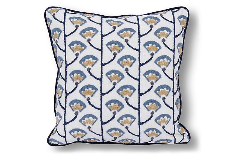Fefang 20x20 Pillow, Indigo/Multi