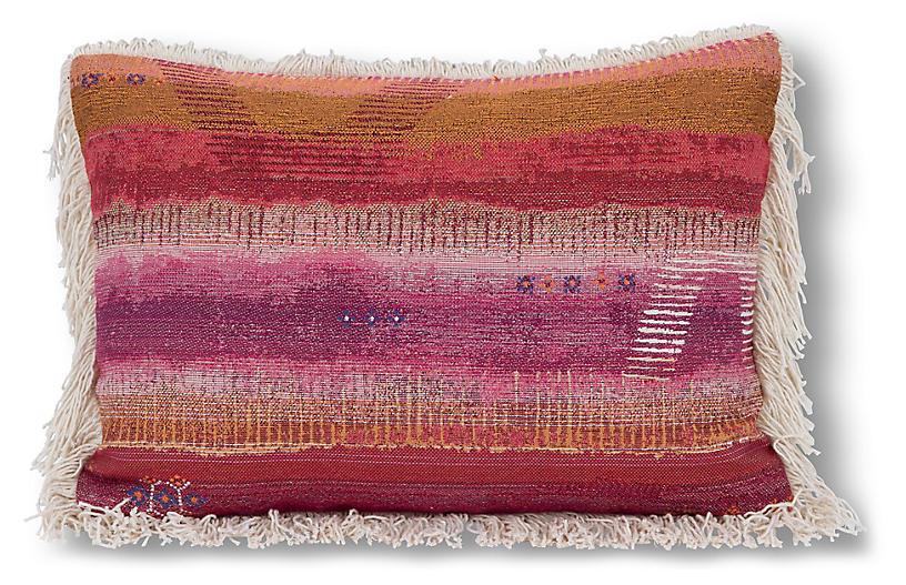 Tangier 14x20 Lumbar Pillow, Pink/Multi