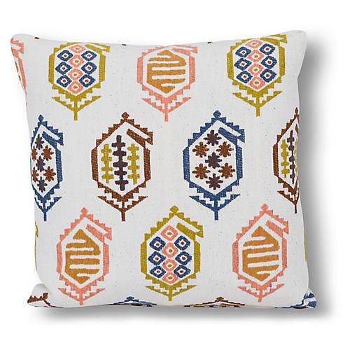 Dakota 22x22 Pillow, White/Multi