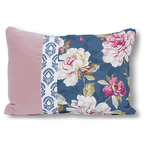 Bella 14x20 Lumbar Pillow, Blue