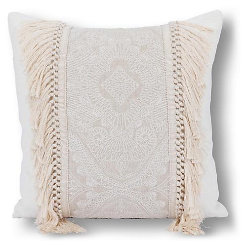 Nabar 20x20 Pillow, Ivory