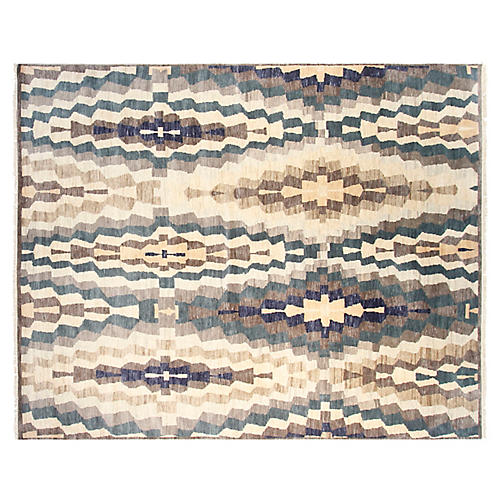 8'x10' Jolie Hand-Knotted Rug, Blue