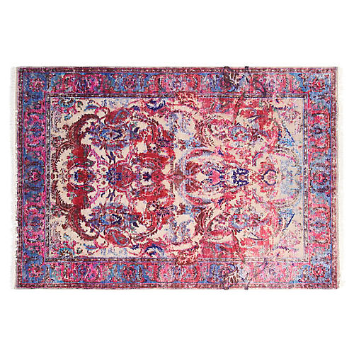 6'x8' Sienna Hand-Knotted Rug, Purple/Multi