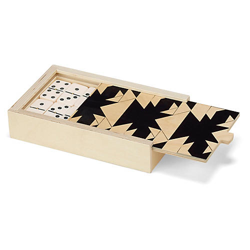 Carmela Domino Set, Black/Natural