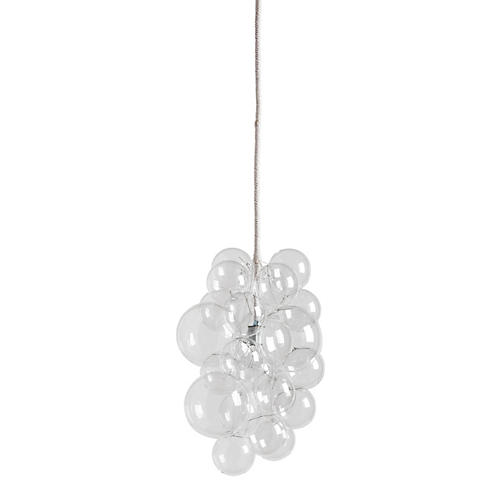 Waterfall Bubble Chandelier, Clear/White