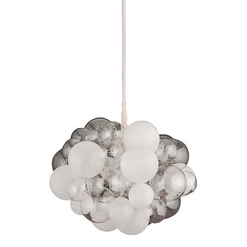 45-Bubble Chandelier, Clear/Frosted