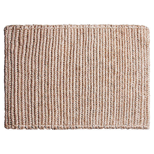 "1'8""x2'3.5"" Enza Doormat, Wheat"