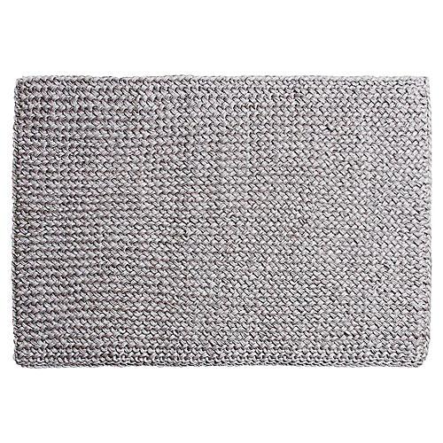 """1'7""""x2'4"""" Costa Doormat, Gray"""