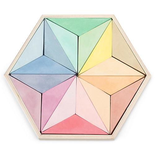 Hexagonal Chalk Set, Natural/Multi